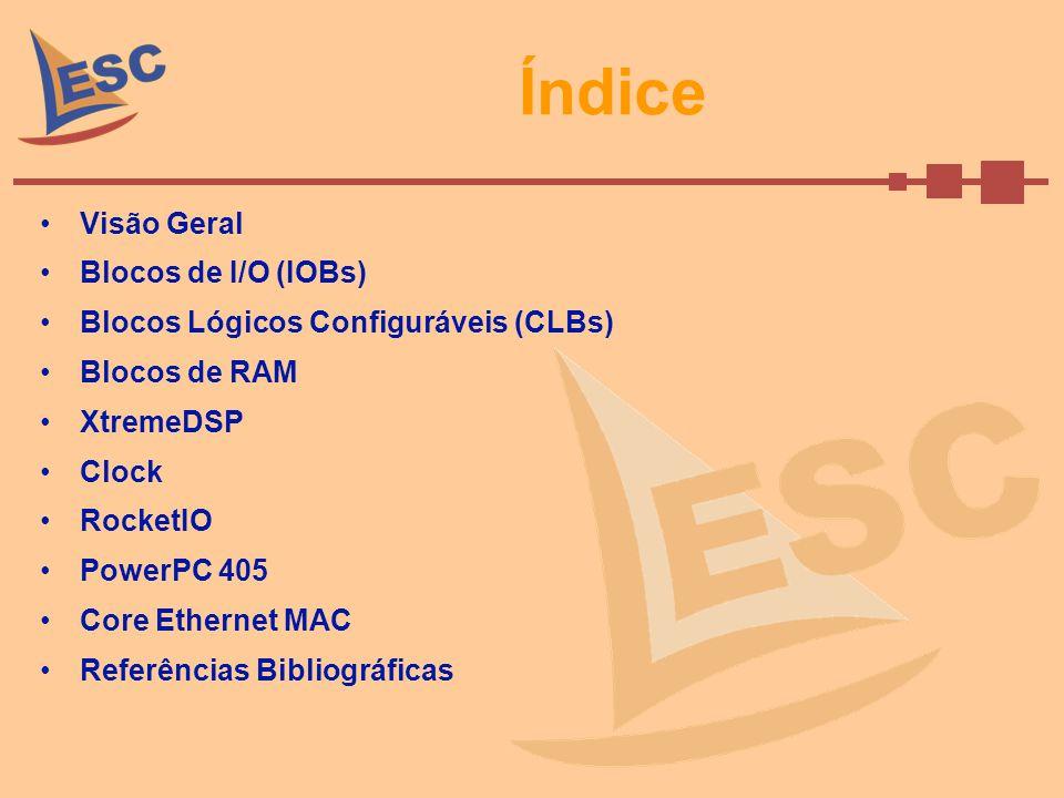 Índice Visão Geral Blocos de I/O (IOBs)