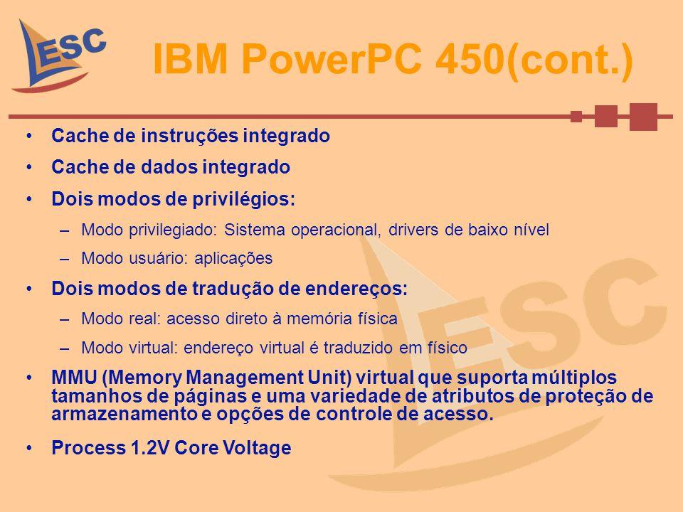 IBM PowerPC 450(cont.) Cache de instruções integrado