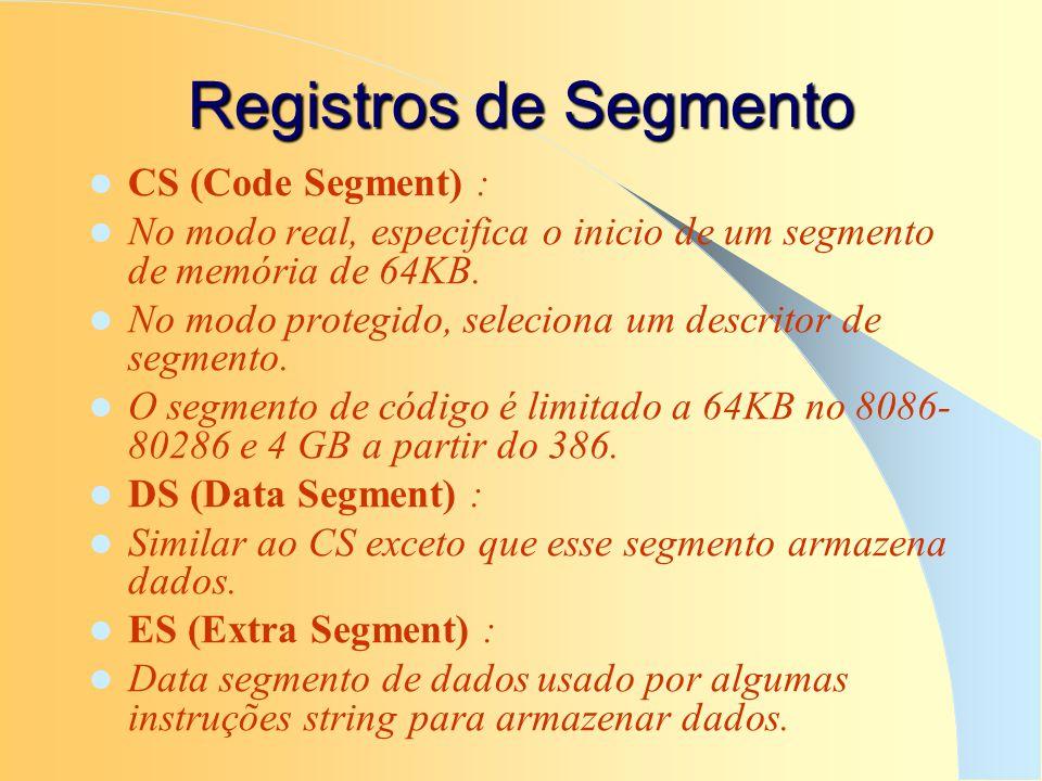 Registros de Segmento CS (Code Segment) :
