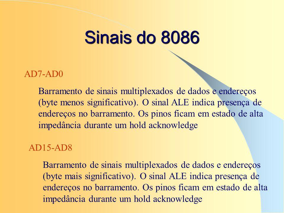 Sinais do 8086 AD7-AD0.