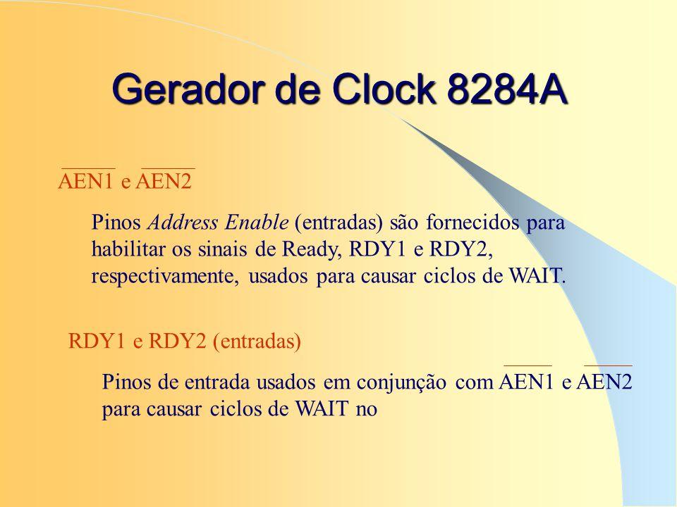 Gerador de Clock 8284A AEN1 e AEN2