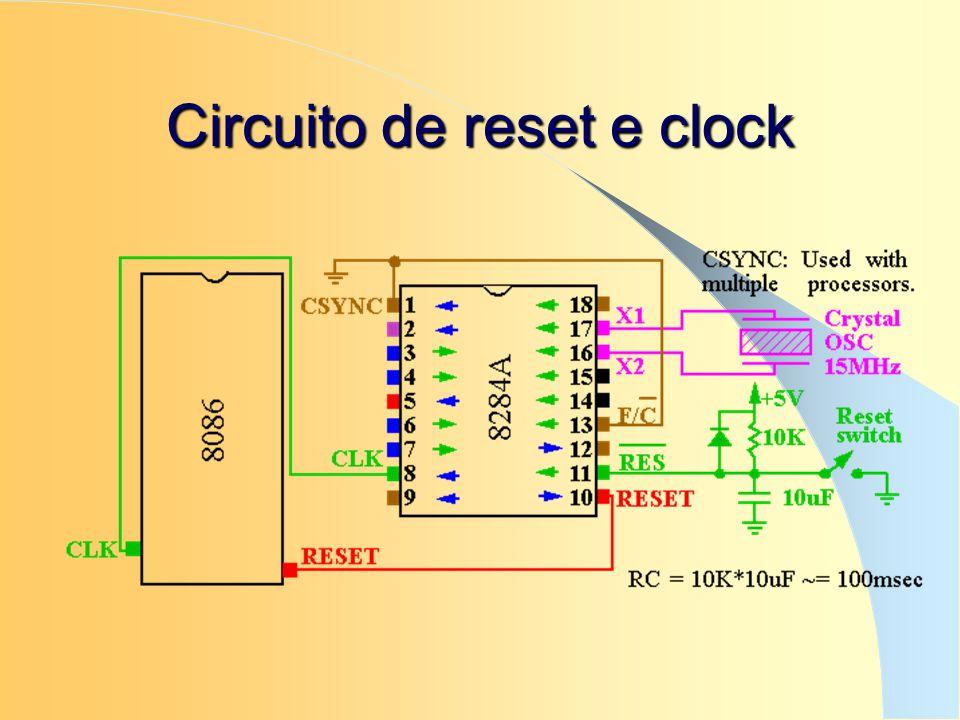 Circuito de reset e clock