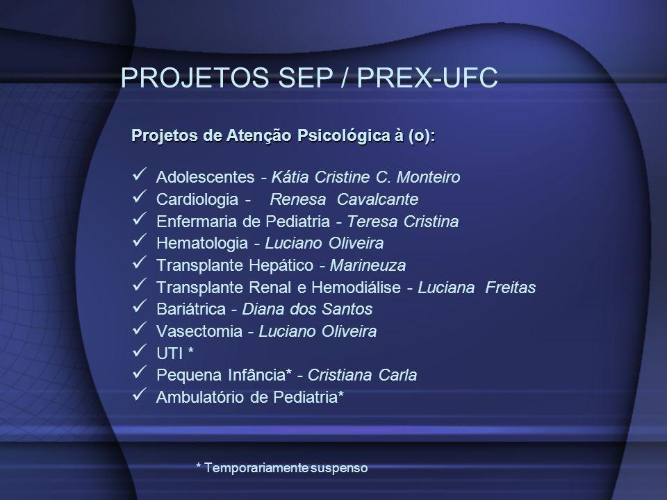 PROJETOS SEP / PREX-UFC