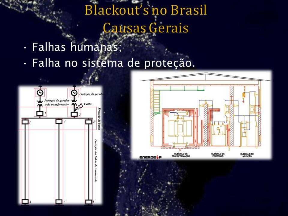 Blackout's no Brasil Causas Gerais