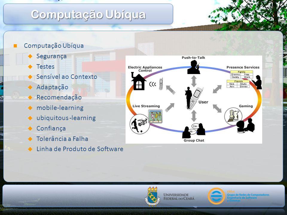 Computação Ubíqua Computação Ubíqua Segurança Testes