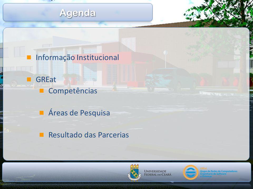 Agenda Informação Institucional GREat Competências Áreas de Pesquisa