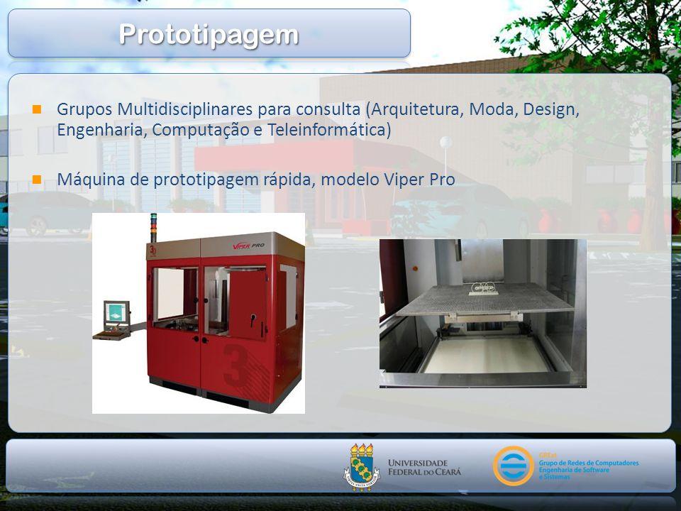 Prototipagem Grupos Multidisciplinares para consulta (Arquitetura, Moda, Design, Engenharia, Computação e Teleinformática)