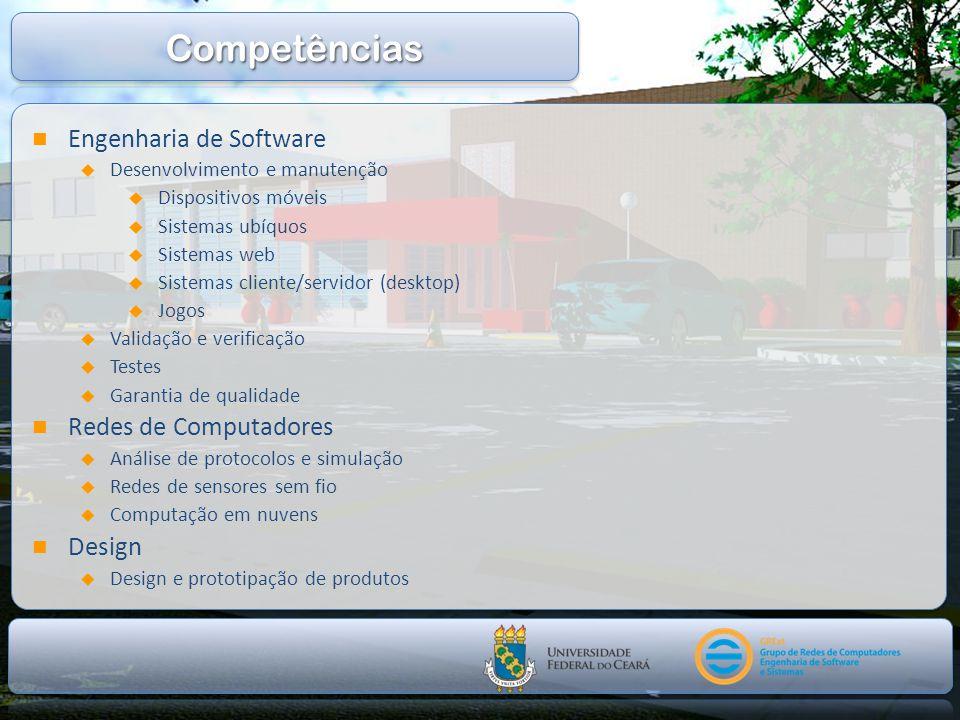 Competências Engenharia de Software Redes de Computadores Design