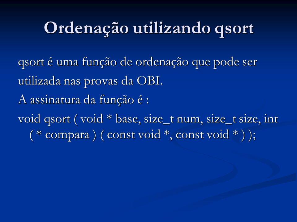 Ordenação utilizando qsort