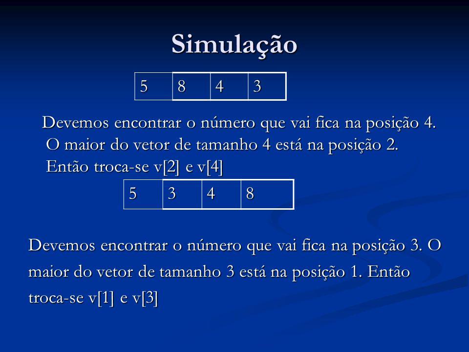 Simulação 5. 8. 4. 3.