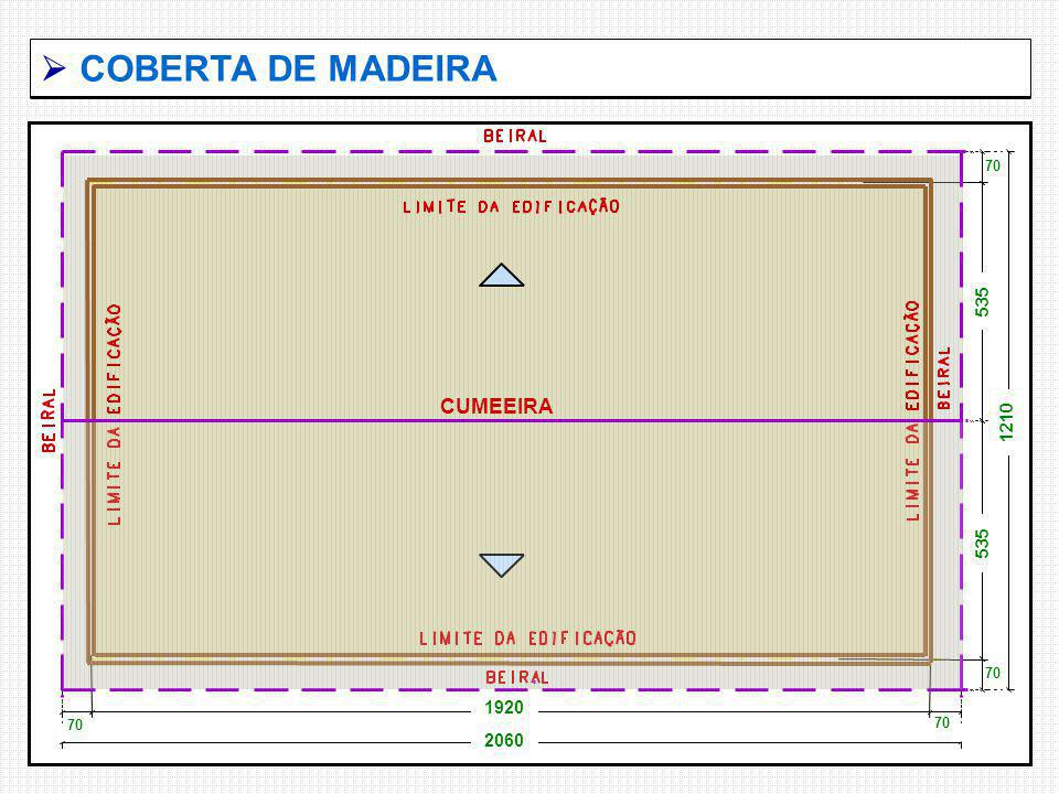  COBERTA DE MADEIRA 535 1210 70 2060 1920 CUMEEIRA