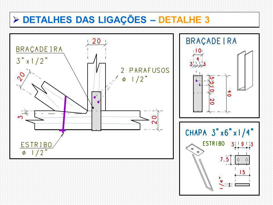  DETALHES DAS LIGAÇÕES – DETALHE 3