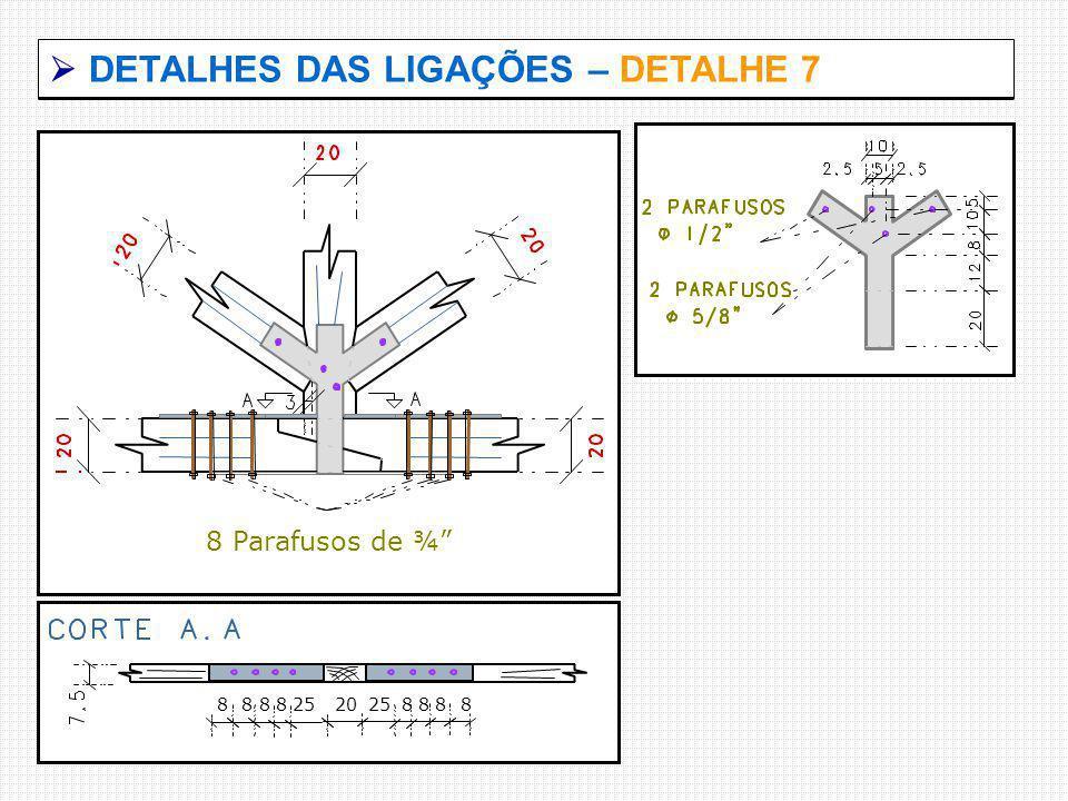  DETALHES DAS LIGAÇÕES – DETALHE 7
