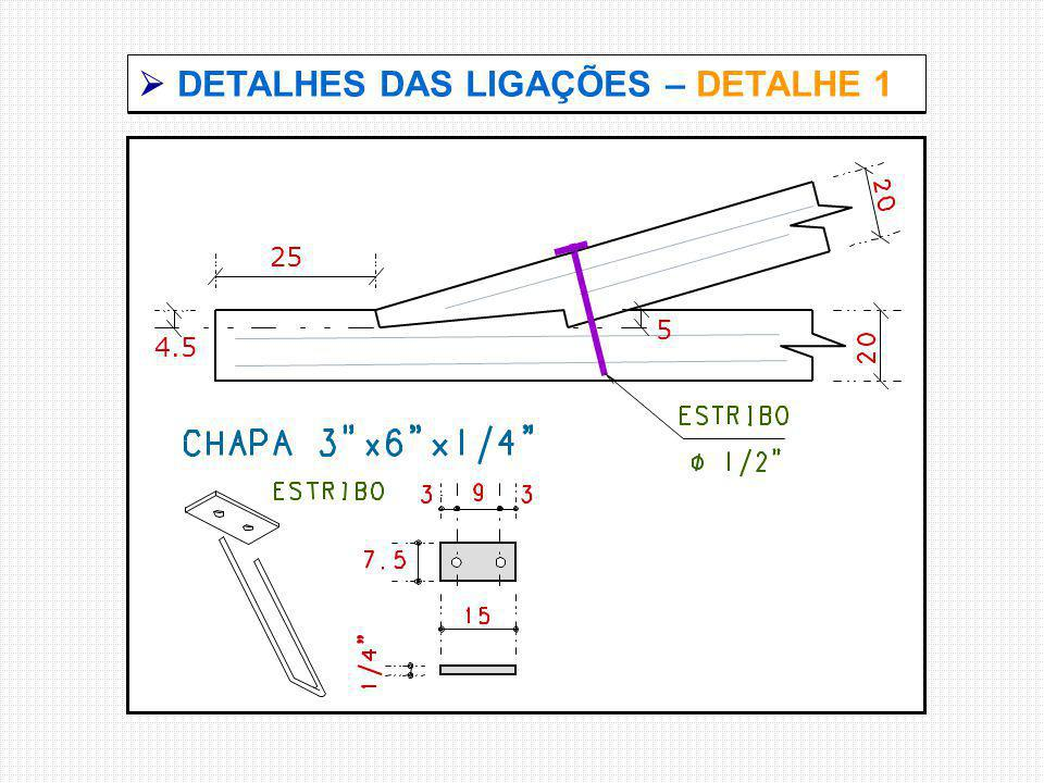  DETALHES DAS LIGAÇÕES – DETALHE 1