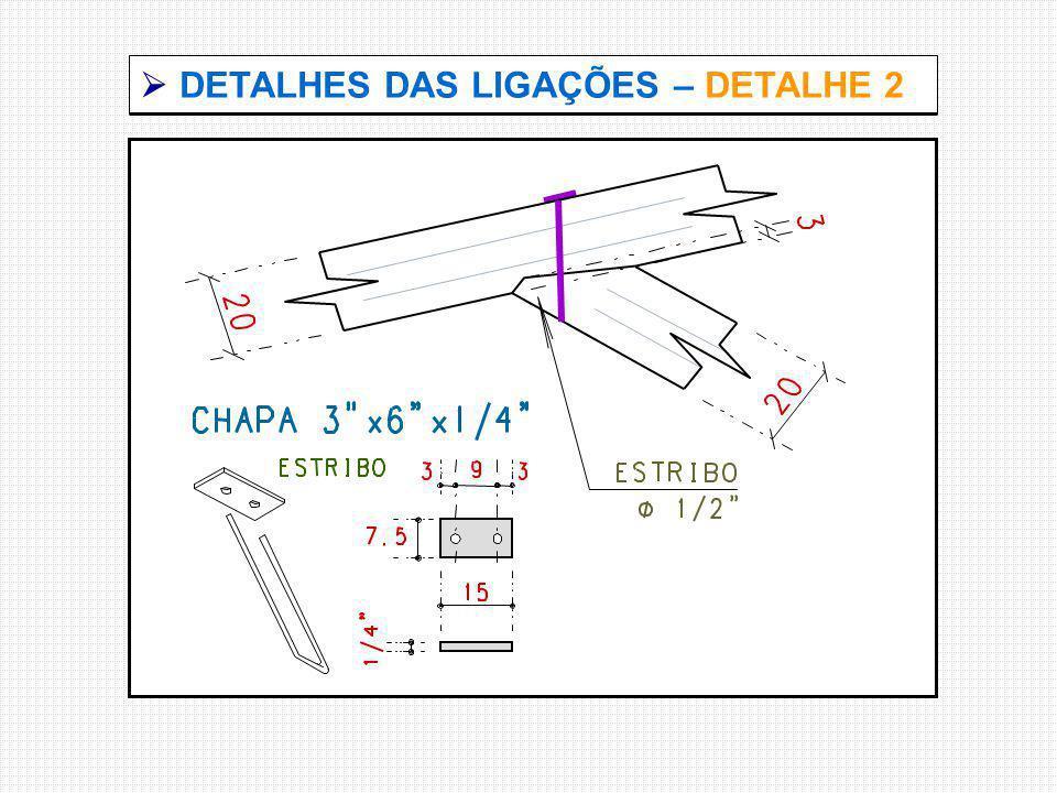  DETALHES DAS LIGAÇÕES – DETALHE 2