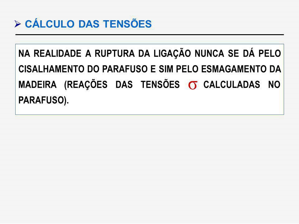  CÁLCULO DAS TENSÕES