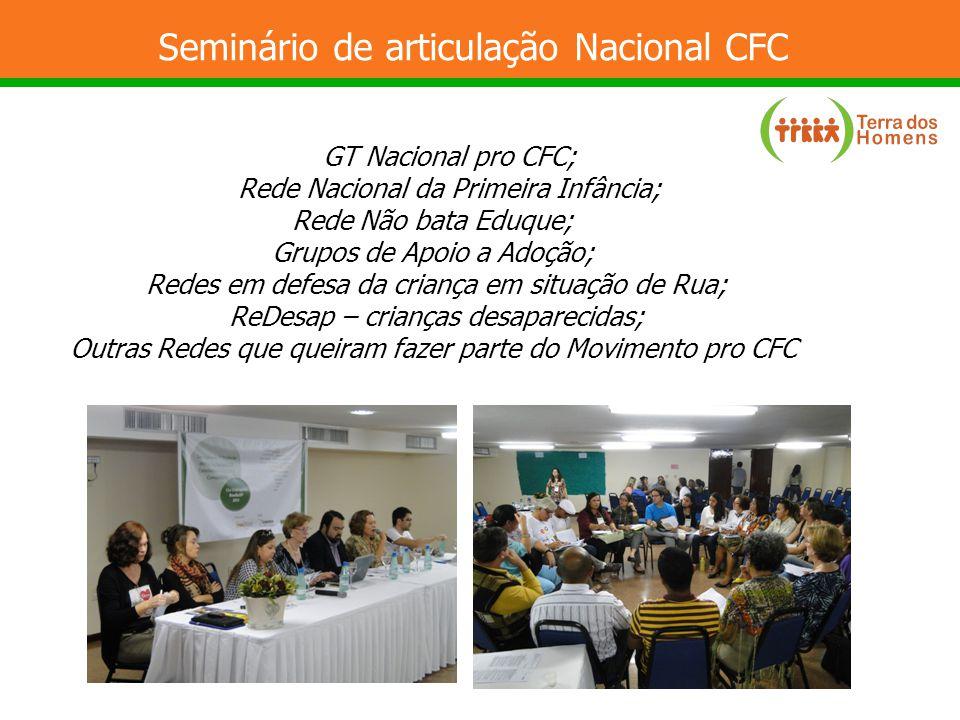 Seminário de articulação Nacional CFC