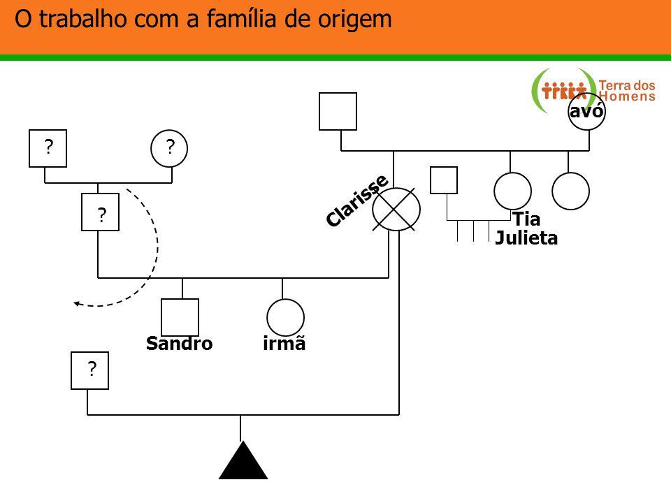 O trabalho com a família de origem