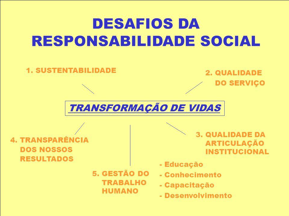 DESAFIOS DA RESPONSABILIDADE SOCIAL
