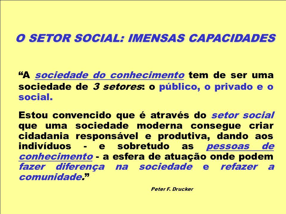 O SETOR SOCIAL: IMENSAS CAPACIDADES