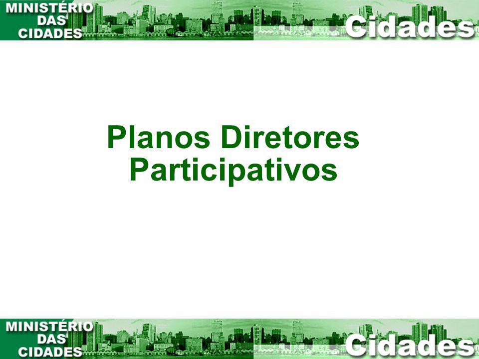 Planos Diretores Participativos