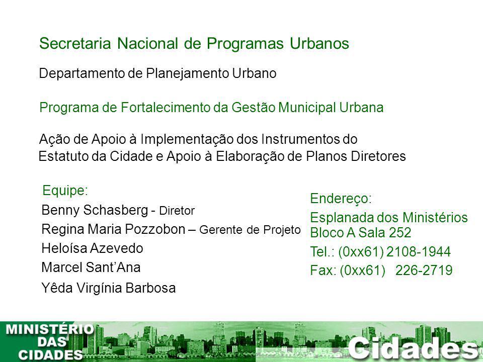 Secretaria Nacional de Programas Urbanos