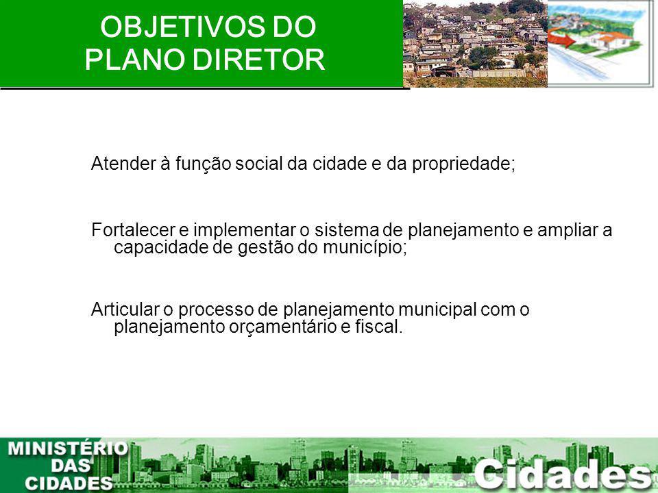 OBJETIVOS DO PLANO DIRETOR