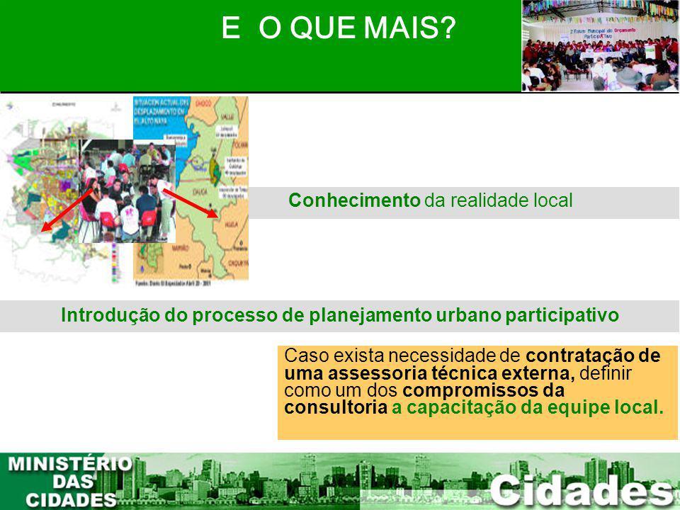 Introdução do processo de planejamento urbano participativo