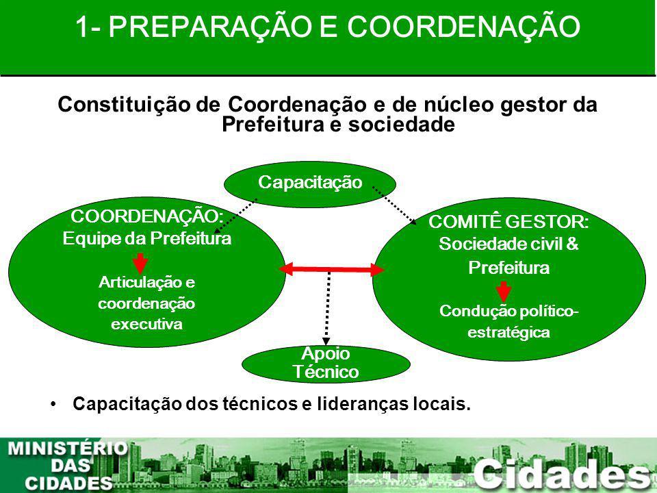 1- PREPARAÇÃO E COORDENAÇÃO