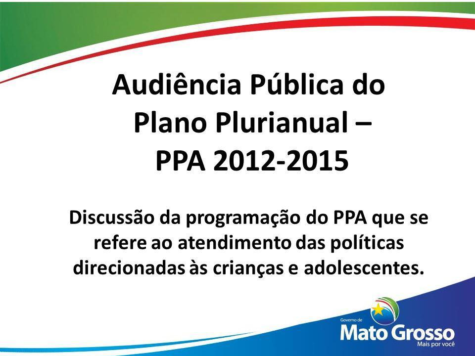 Audiência Pública do Plano Plurianual – PPA 2012-2015