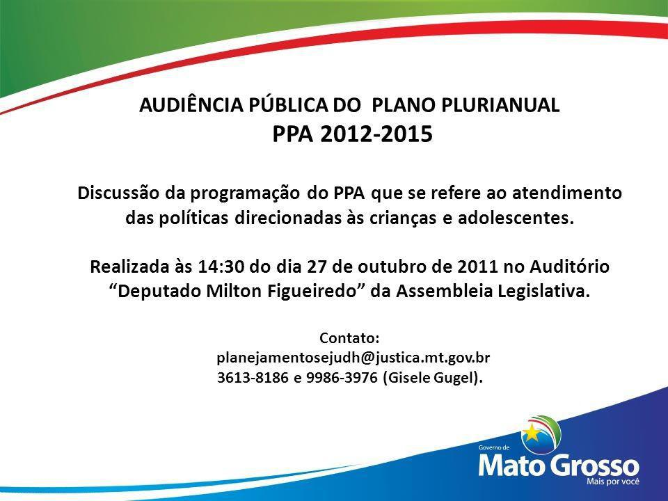 AUDIÊNCIA PÚBLICA DO PLANO PLURIANUAL