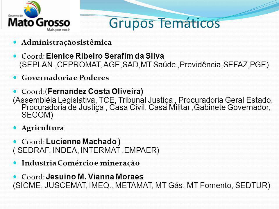 Grupos Temáticos Administração sistêmica