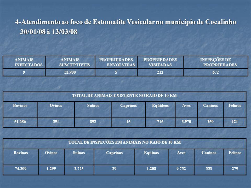 4-Atendimento ao foco de Estomatite Vesicular no município de Cocalinho