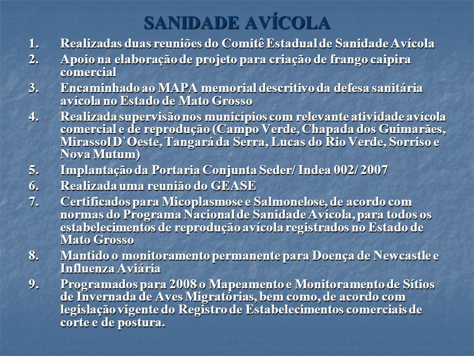 SANIDADE AVÍCOLA Realizadas duas reuniões do Comitê Estadual de Sanidade Avícola.
