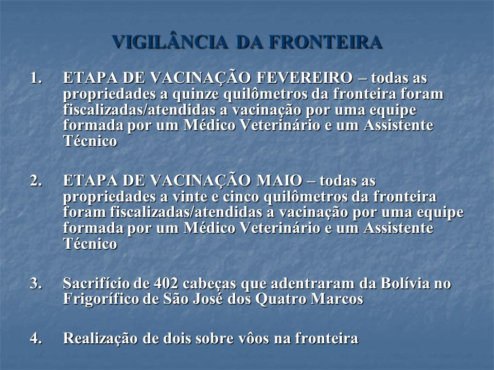 VIGILÂNCIA DA FRONTEIRA