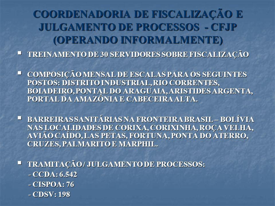 COORDENADORIA DE FISCALIZAÇÃO E JULGAMENTO DE PROCESSOS - CFJP (OPERANDO INFORMALMENTE)