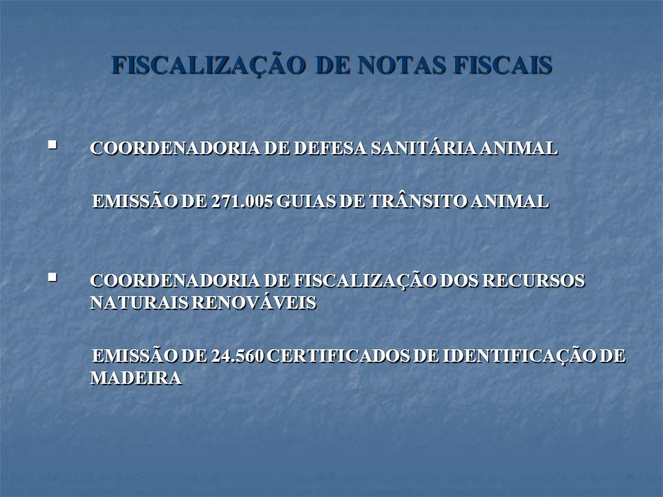 FISCALIZAÇÃO DE NOTAS FISCAIS