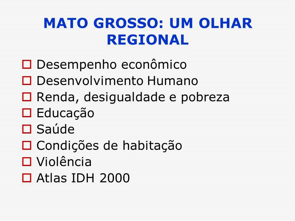 MATO GROSSO: UM OLHAR REGIONAL
