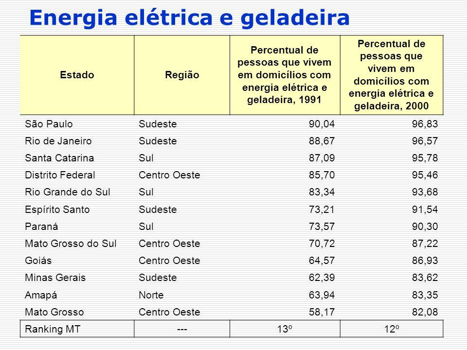 Energia elétrica e geladeira