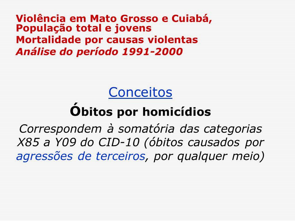 Conceitos Óbitos por homicídios