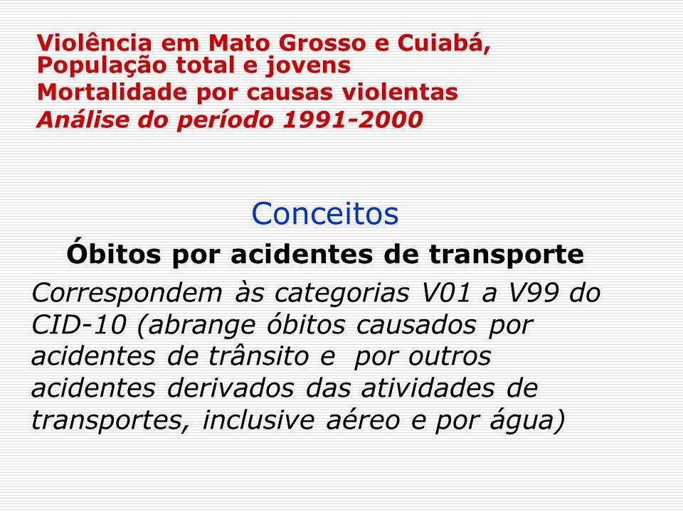 Óbitos por acidentes de transporte