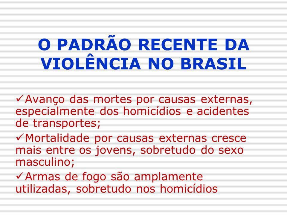 O PADRÃO RECENTE DA VIOLÊNCIA NO BRASIL