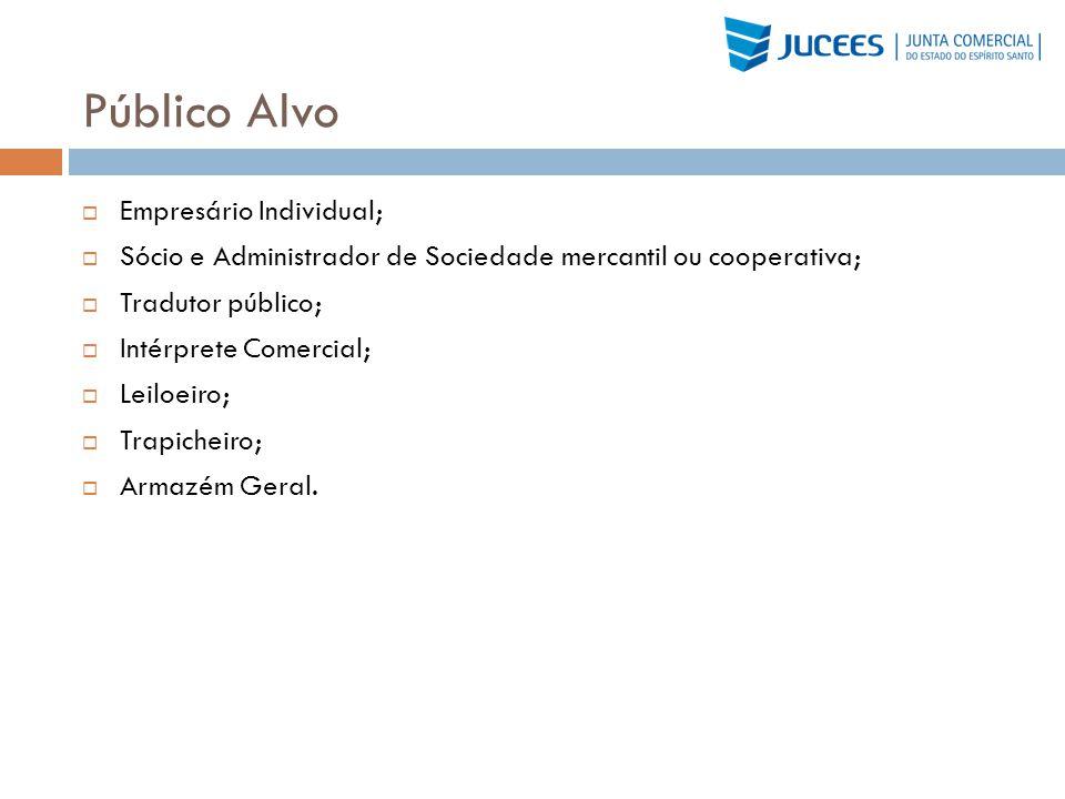 Público Alvo Empresário Individual;