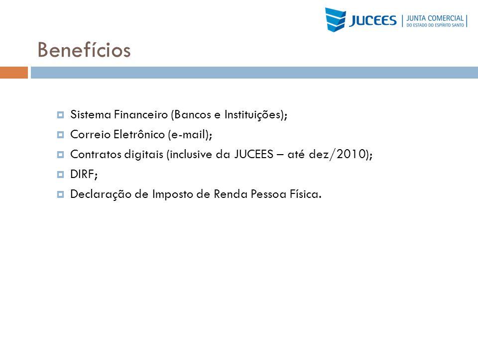 Benefícios Sistema Financeiro (Bancos e Instituições);