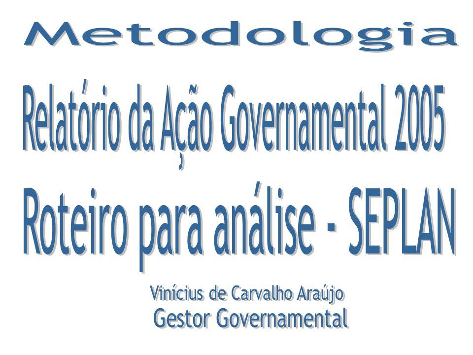 Relatório da Ação Governamental 2005