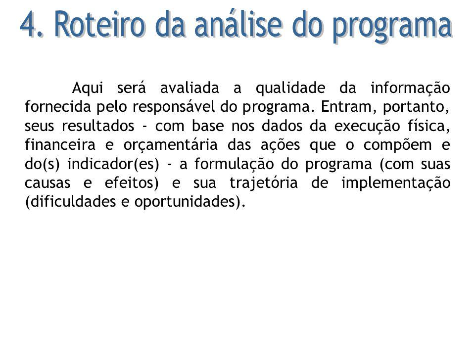 4. Roteiro da análise do programa