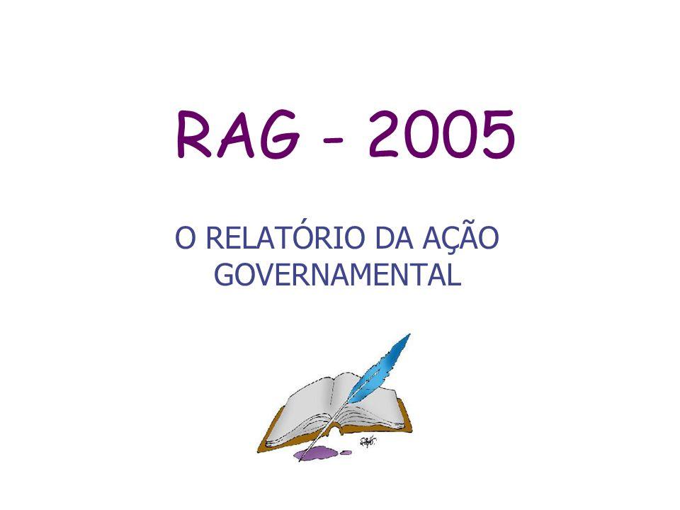 O RELATÓRIO DA AÇÃO GOVERNAMENTAL