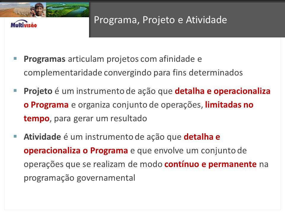 Programa, Projeto e Atividade