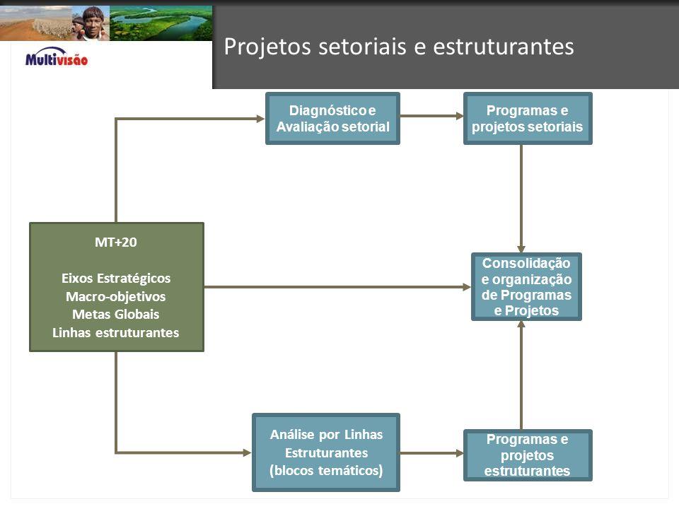Projetos setoriais e estruturantes