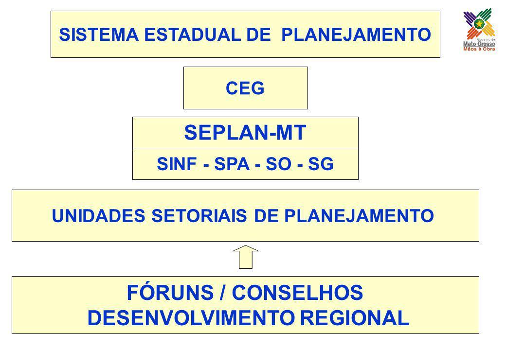 SEPLAN-MT FÓRUNS / CONSELHOS DESENVOLVIMENTO REGIONAL